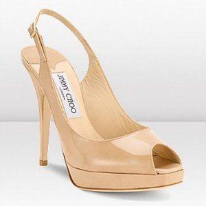 Jimmy Choo Nova Slingback Patent Leather Sandals